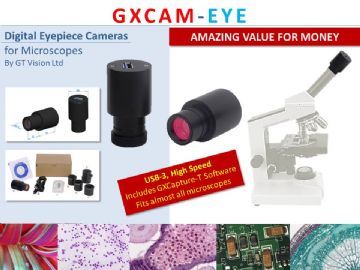 GXCAM-Eye-5 - USB-3, Digital Eyepiece Camera 5MP, For Eyepiece Tubes + GXCapture-T Software